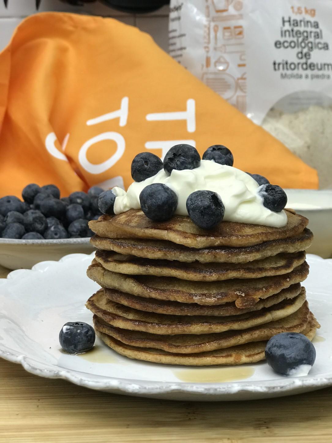 Desayuno saludable: pancakes de Tritordeum