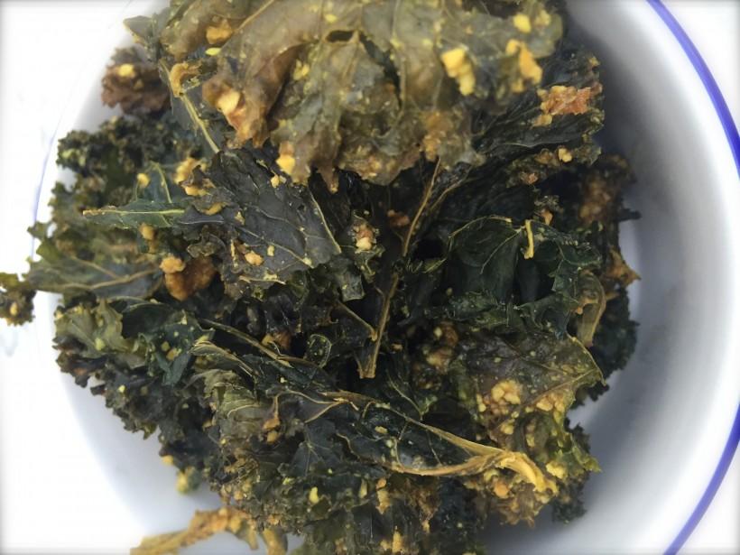 Chips de kale, un snack saludable