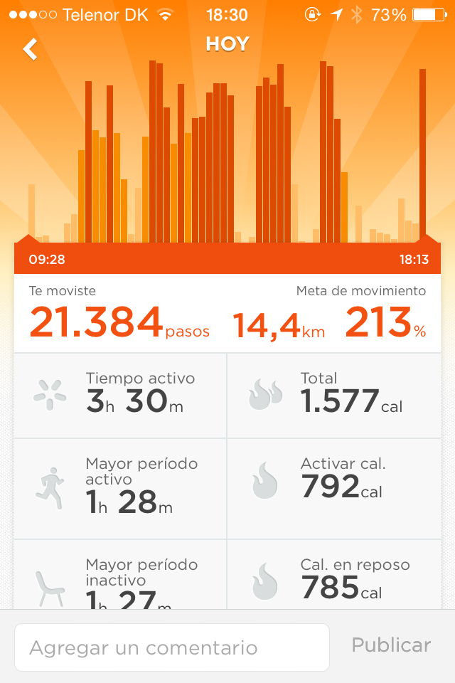 ¿Cuántos pasos al día caminas?