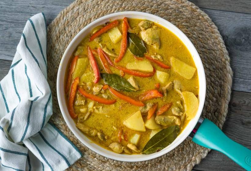 Comidas del mundo: Un plato Tailandés, Curry de pollo Massaman